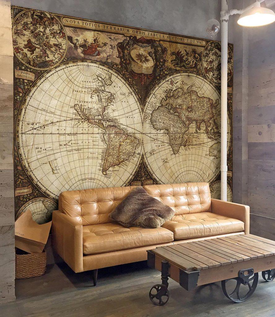 stara mapa sveta fototapeta 3d