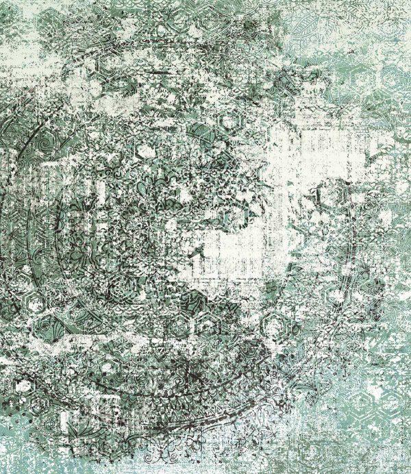 reljefne tapete za dnevnu sobu zeleno