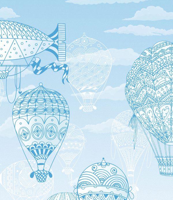 reljefne tapete za deciju sobu sa balonima