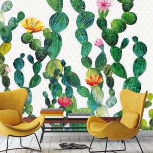 fototapete 3D kaktus reljefne