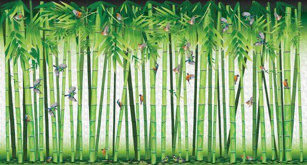 bambusi sa pticama tapeta
