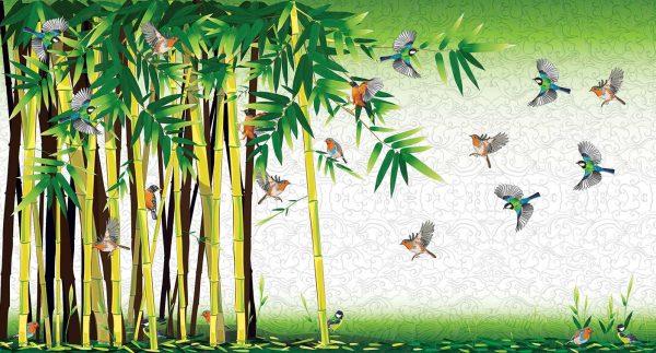 šuma bambusa 3d tapete