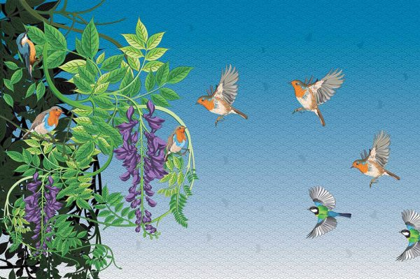 ptice sa drvecem tapeta