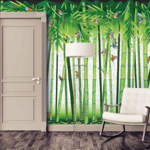 tapete za dnevnu sobu sa prirodnim motivima bambusi