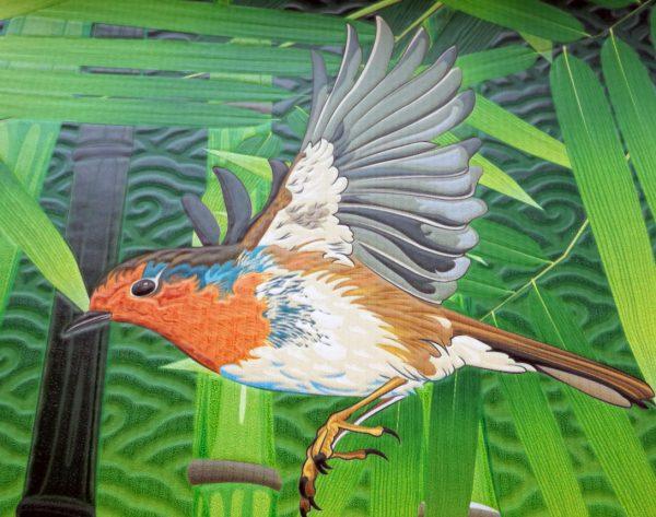 tapeta sa pticom u reljefu