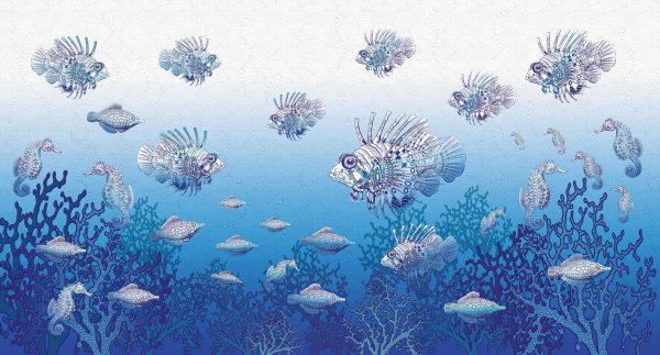koralni greben reljefne tapete za deciju sobu