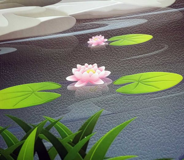 lotosov cvet tapeta sa reljefom