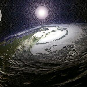 sunce iznad planete foto tapet