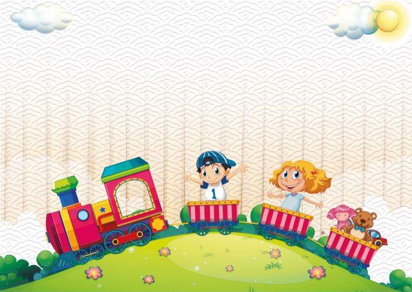 vozic tapeta za deciju sobu
