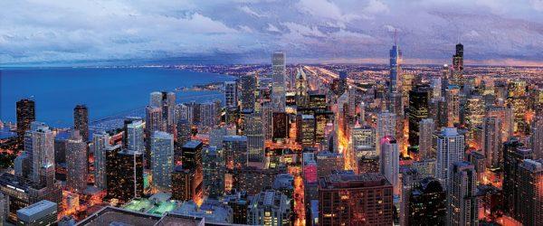 Njujork noću panorama