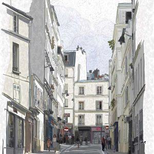 Ulica u Parizu na monmartr tapeta 3d