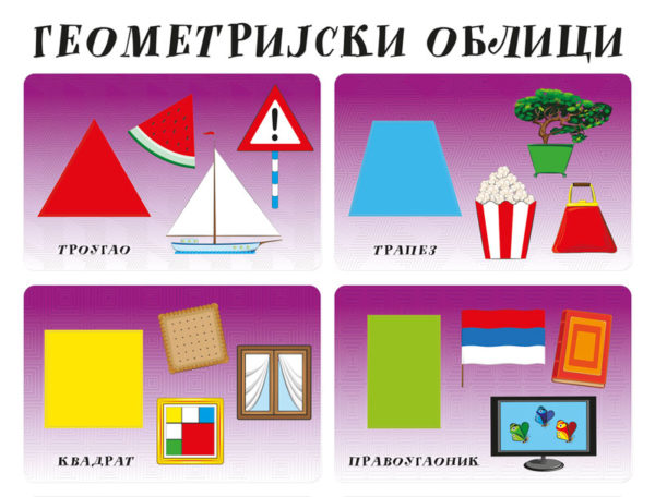 Geometrijski oblici edukativni poster