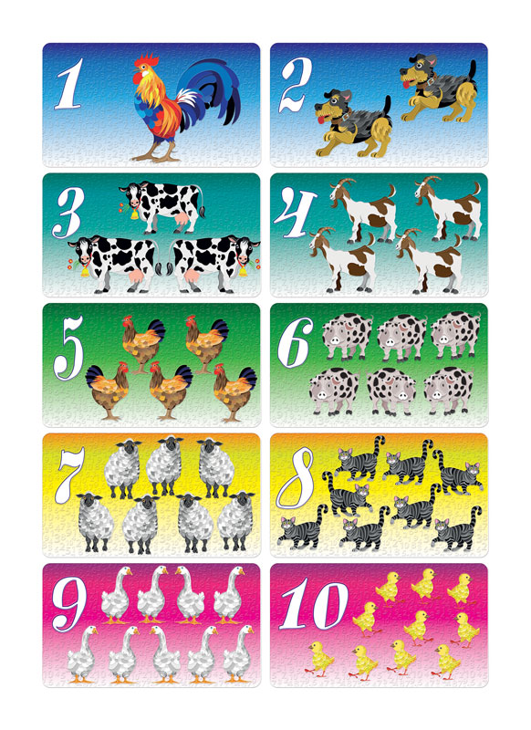 Ucimo brojeve 2 edukativni poster